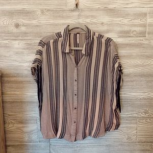 Free People striped button down